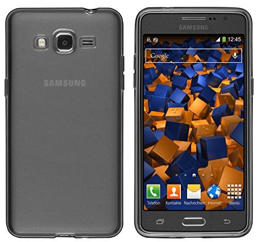 mumbi Schutzhülle für Samsung Galaxy Grand Prime Hülle transparent schwarz