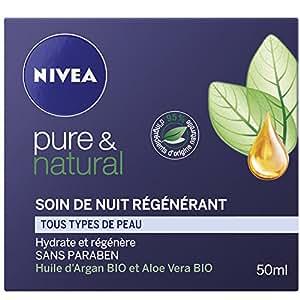 Nivea Pure et Natural Soin de Nuit Régénérant 50 ml