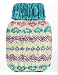 Pretty Fair Isle Design Knitted Cover Mini Hottie Gel Hand Warmer