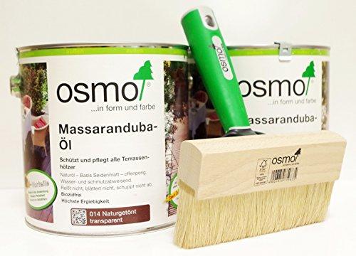 OSMO AB.Bauconcept GbR© Kombiangebot Massaranduba-Öl 014 5 Liter Fußbodenstreichbürste 150 mm