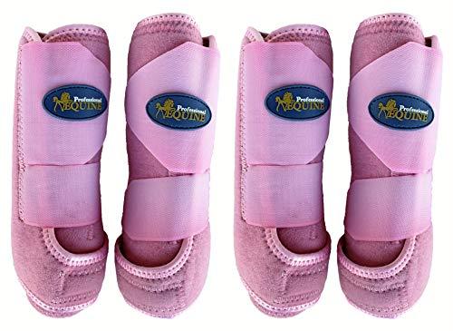 Medium Professionelle Equine Sport-Medizin Splint-Boots Pink, 4Stück 41pkc