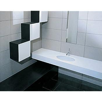 Lavandino Lavabo Sottopiano Moderno modello Gea in Ceramica Bianco 90x33 cm