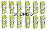 12 X PET BRANDS CAT LITTER TRAY LINERS LARGE 8 PACK (96 LINERS) FIT VAN NESS 89CM X 46CM Y3
