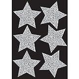 Silver Sparkle Stars 6 pcs 4 Magnetic
