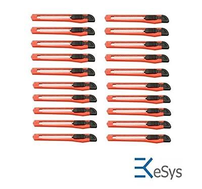 20 Stück Cuttermesser mit 9 mm Abbrechklingen, Teppichmesser