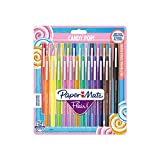 Paper Mate Flair Feutres de Coloriage Candy POP, pointe moyenne (0,7 mm), assortiment de couleurs, lot de 24