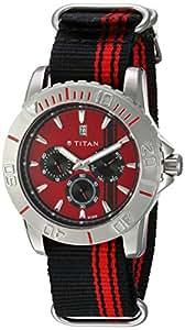 Titan Octane Analog White Dial Men's Watch - 9490SP02