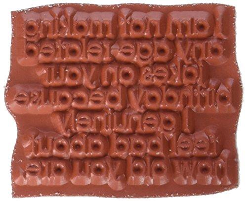 Riley & Company Schaumstoff Funny Knochen selbst Stempel 5,7cm x 4,4° cm, altersbedingten Witze