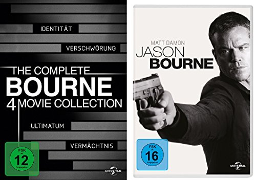 Bourne 1-5 (Bourne Collection Box 1-4 + Jason Bourne) im Set - Deutsche Originalware [5 DVDs]