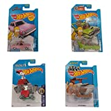 Geschenkidee Wichteln Hot Wheels Series (The Flintmobile, Snoopy, The Homer, The Simpsons Family Car)