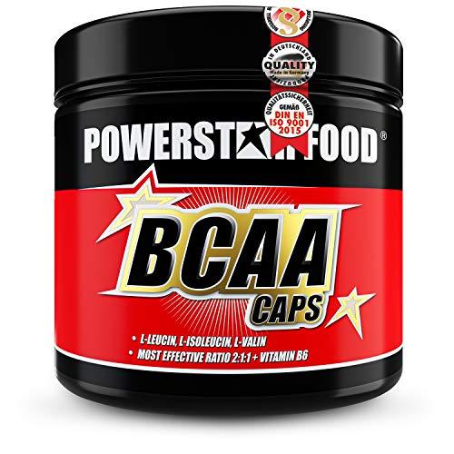 BCAA CAPS - 300 Kapseln - essentielle Aminosäuren L-Leucin, L-Isoleucin, L-Valin, plus VB6 - im erprobten Verhältnis 2:1:1 - für intensive sportliche Belastungen - Pharmaqualität - Deutsche Herstellung
