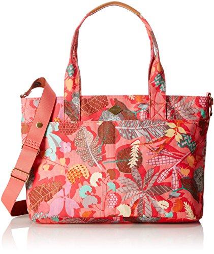 Oilily Damen Diaper Bag Schultertasche, Pink Flamingo, 16x31x42 cm