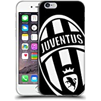 Ufficiale Juventus Football Club Mono Logo Stemma Cover Morbida In Gel Per Apple iPhone 6 / 6s