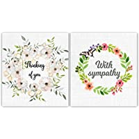 6 Thinking of You/Sympathy/Condolence Cards by Greetingles. with envelopes. Watercolour Design