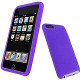 igadgitz Silikon Hülle Etui Case Schutzhülle Tasche in Lila für Apple iPod Touch 2G 2.Gen Generation & 3G 3.Gen Generation 8gb, 16gb, 32gb & 64gb + Display Schutzfolie