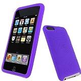 igadgitz U0060 Silikon Hülle Etui Case Schutzhülle Tasche für Apple iPod Touch 2. & 3. Generation mit Schutzfolie - Lila