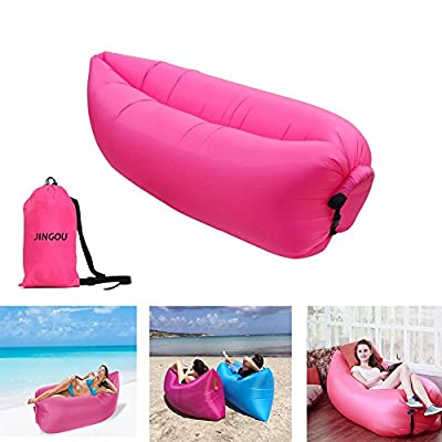 Inflatable Lounger Couch with Carry Bag Beach Lounger Air Sofa Inflatable Couch Bed Pool Float for Indoor/Outdoor Hiking Camping,Beach,Park,Backyard Waterproof Durable produced by JINGOU - quick delivery from UK.