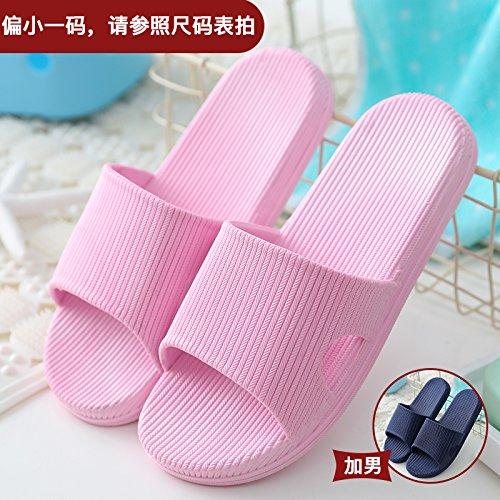 DogHaccd pantofole,Pantofole donna estate fresca estate ciabatte da bagno home giovane in camera cool pantofole Rosa scuro + blu3