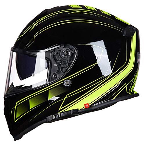 YongBe Modularer Motorradhelm Männer Frau Erwachsenen ECE Bluetooth Sicherheit Offener Motorrad-Rennhelm Winddicht Anti Nebel Klappbare Integralhelme für Motorräder,GV8- XXXL / (62CM ~ 63CM)