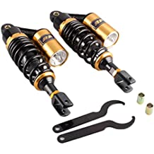gzyf 350mm un par de amortiguador (acero inoxidable ajuste aire Honda CB 750RD 350CB serie suspensión trasera