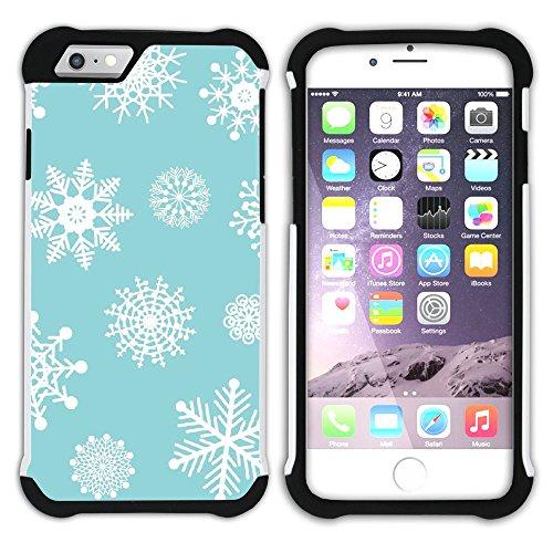 Graphic4You Schnee Schneeflocke Winter Muster Hart + Weiche Kratzfeste Hülle Case Schale Tasche Schutzhülle für Apple iPhone 6 / 6S Design #12