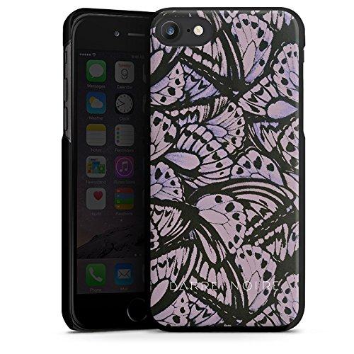 Apple iPhone X Silikon Hülle Case Schutzhülle Schmetterlinge Flügel Lila Hard Case schwarz