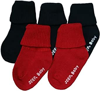 Jeep Baby 5 Pack Socks Navy Blue & Red 0-6 Months (UK size 0-0)