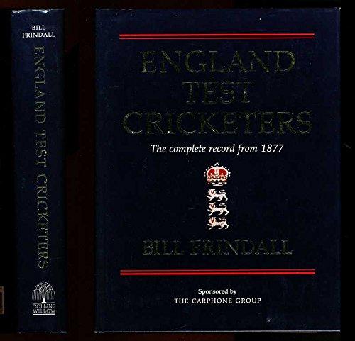 England Test Cricketers por Bill Frindall