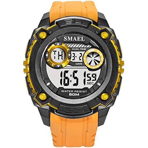 Blisfille Herren Armbanduhren Automatik Wasserdicht Herrenuhr Orange Outdoor Sportuhr Armbanduhr Automatikuhr