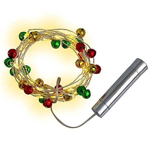 e mit Glocke, Jtdeal Wasserdicht Micro LED Lichterkette Kupferdraht Batterie-betrieben für Party, Hochzeit, Tannenbaum, Halloween,Weihnachten, Innen und Außendekoration, 3m (Halloween Fenster, Leuchten, Dekorationen)