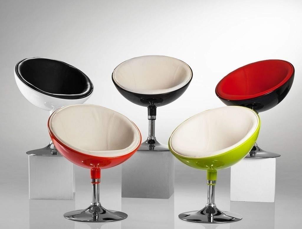 Lounge Sessel in Rot Clubsessel Kunststoff Kunstleder Cocktailsessel Retro Design Sessel Duhome 0612
