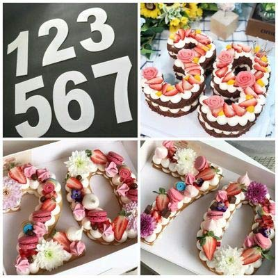 6/20,3cm Buchstaben Zahlen Form Kuchen Prägung Acryl Cutter Dekorieren Schablone Zucker Kuchen Digital Stempel Ausstecher Fondant Form Geschenk 8 inch (Digitale Schablone Cutter)