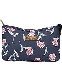Brakeburn - Bolsa de lavado para mujer, diseño de flores, color azul marino y rosa