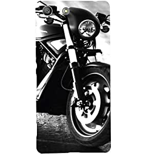 Casotec Cool Bike Design Hard Back Case Cover for Sony Xperia M5 Dual