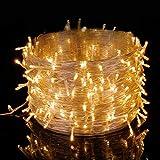 Elegear 50M 250 LEDs Lichterkette warmweiß, 8 Modi LED Weihnachtsbeleuchtung strombetrieb Deko für Innen Außen Neujahr Weihnachten Geburtstag Feiertag Party Hotel Garten Hochzeit