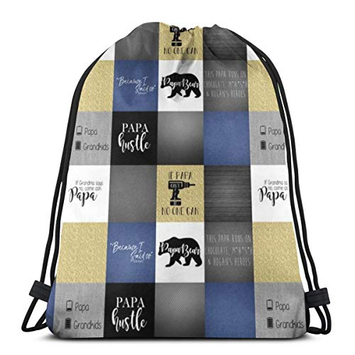vintage cap Papa Bear Navy (Chocolate, Mash, Hogan's Heroes)_5882 3D Print Drawstring Backpack Rucksack Shoulder Bags Gym Bag for Adult 16.9