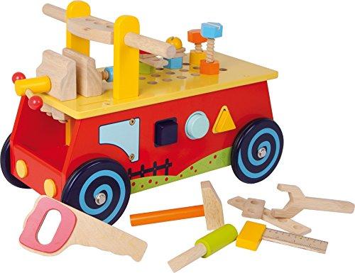 Auto Dose mit + Werkbank aus Holz + Werkzeug–1. Alter Baby Mädchen Jungen