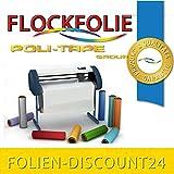 Folien-Discount24 (EUR 25,80/Quadratmeter) FLOCKFOLIE YELLOW 510 BÜGELFOLIE TOP ! Preistip Flex Flock 1 M x 50 cm