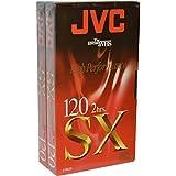 Haute qualité JVC vierge cassette vidéo VHS pour haute performance et Répétez Utilisation SX120 2 x 2 Hour