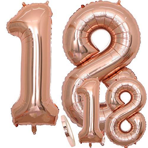 Geburtstag XXL Rose Gold - Riesen Folienballon in 2 Größen 40