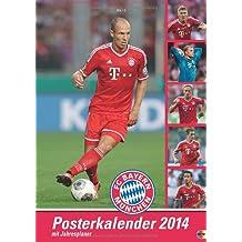 FC Bayern Posterkalender 2014: Jahresübersicht 2014 mit Spielergeburtstagen