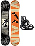 Kinder Freestyle Snowboard Set Salomon The Villain Grom 143 + Pact S 2016 Youth