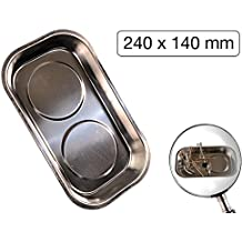 Magnetschale Werkzeug-Schale 240 x 140 mm 2 Magnet-Teller Kleinteileschale