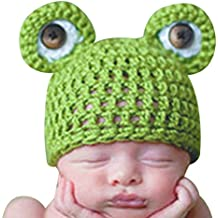 Dream Garden Newborn Infant Baby Knit Crochet Hat Photography Prop Costume Cap Frog Beanie