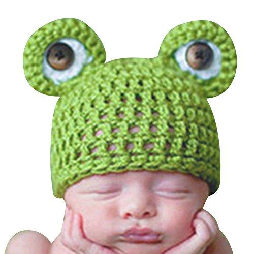 Andy's Share Frosch Neugeborenes Kind Baby Häkelarbeit Kürbis Mütze Fotografie Prop Kostüm Kappe (Baby Kostüme Frosch)