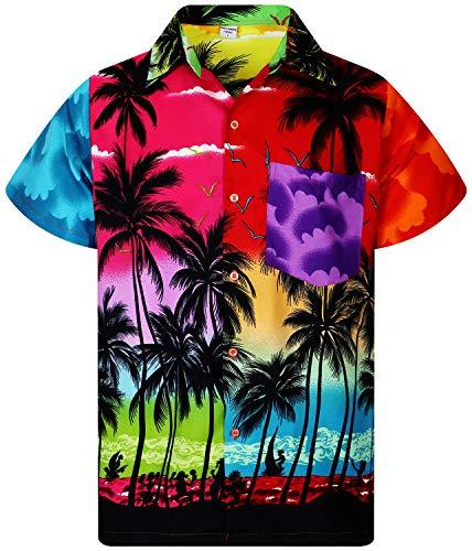 V.H.O. Funky Hawaiihemd, Kurzarm, Mondy Beach, XL