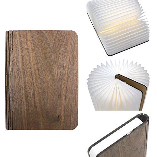 GranVela® GreenO Libro Luces Luz de noche Pequeña lámpara de escritorio luces...