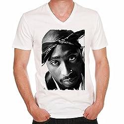 2Pac RnB: Herren T-shirt,Prominenter foto - Weiß, S, t shirt herren,Geschenk