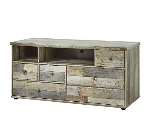 Stella Trading BZDDD01032 Fernsehschrank Driftwood Fernsehtisch Longboard, Holz, Braun, 130 x 62 x 52 cm