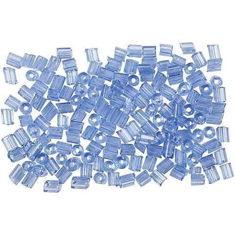 Bolas de semillas de rocalla, 8/0 de tamaño, el tamaño del agujero 0,6 a 1,0 mm, 25 g, polvo azul